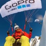 Paragliders stunten met GoPro